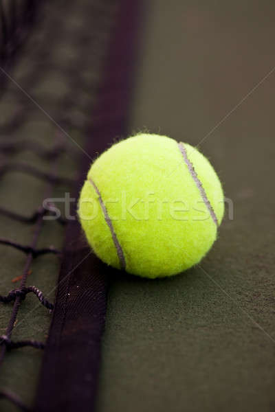 Foto d'archivio: Tennis · shot · palla · da · tennis · net · salute · palla