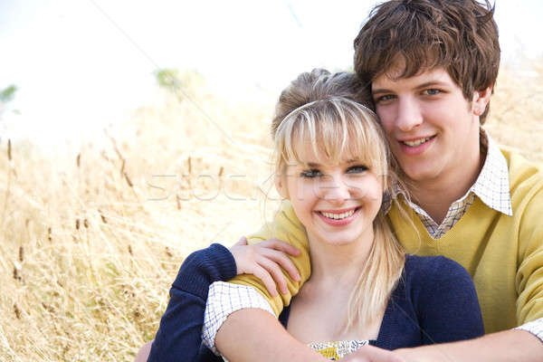 Stock photo: Young caucasian couple in love