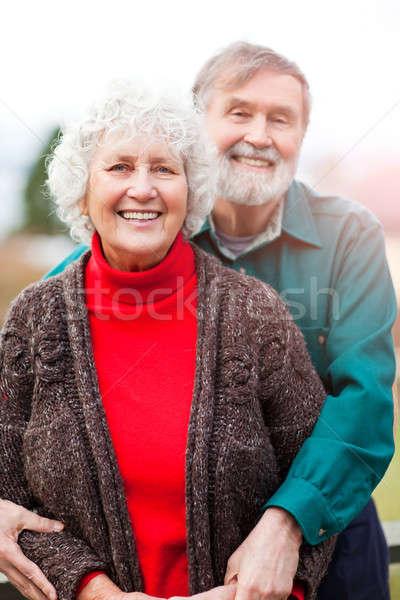 Сток-фото: портрет · счастливым · любви · пару · женщины