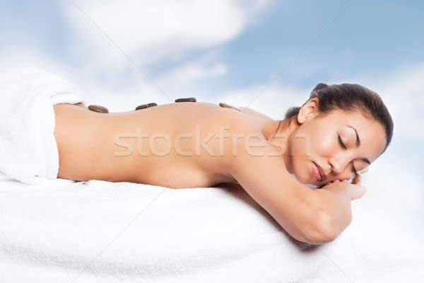 Beauty spa girl Stock photo © aremafoto