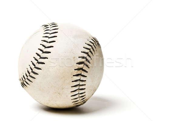 Baseball balle isolé coup sport cuir Photo stock © aremafoto