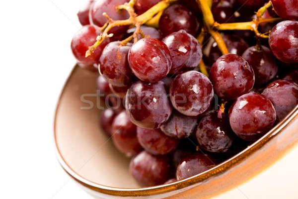 Szőlő lövés tál gyümölcs egészség piros Stock fotó © aremafoto