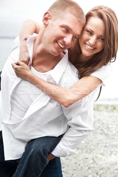 Happy caucasian couple Stock photo © aremafoto