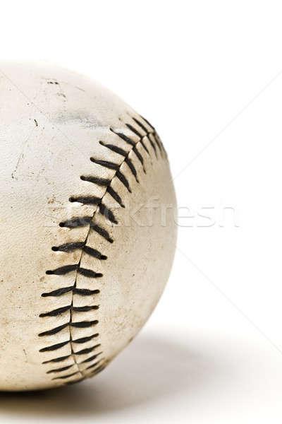 Beisebol bola isolado tiro esportes couro Foto stock © aremafoto