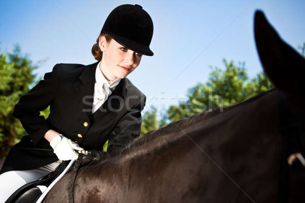 Horseback riding girl Stock photo © aremafoto