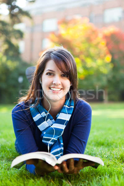 студент изучения портрет кампус Сток-фото © aremafoto