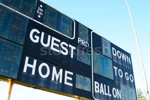 Score bord coup football stade sport Photo stock © aremafoto