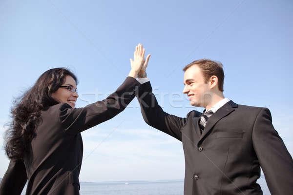 Happy business people Stock photo © aremafoto