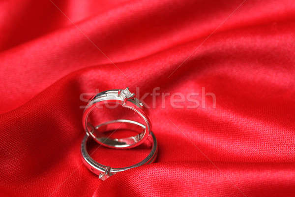 Wedding rings Stock photo © aremafoto