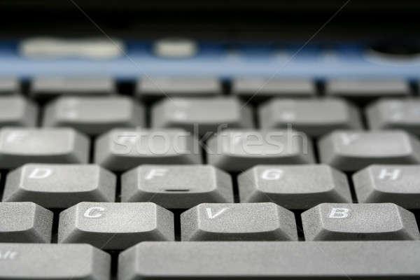 Tastiera del computer portatile macro poco profondo business internet laptop Foto d'archivio © aremafoto