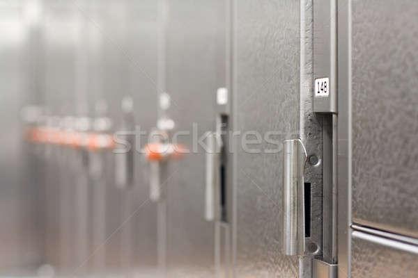 раздевалка спортзал мелкий спорт фитнес клуба Сток-фото © aremafoto