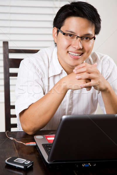 Stock photo: Working asian entrepreneur