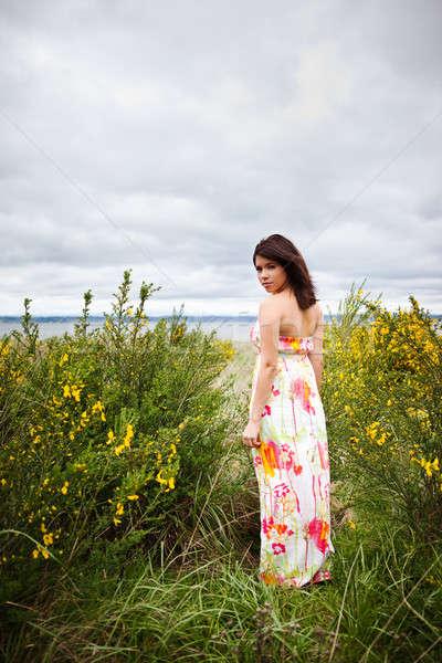 красивая девушка портрет счастливым красивой девушки Сток-фото © aremafoto