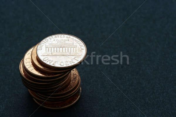Stock fotó: Köteg · pénz · pénzügy · könyvelés · érme · bankügylet