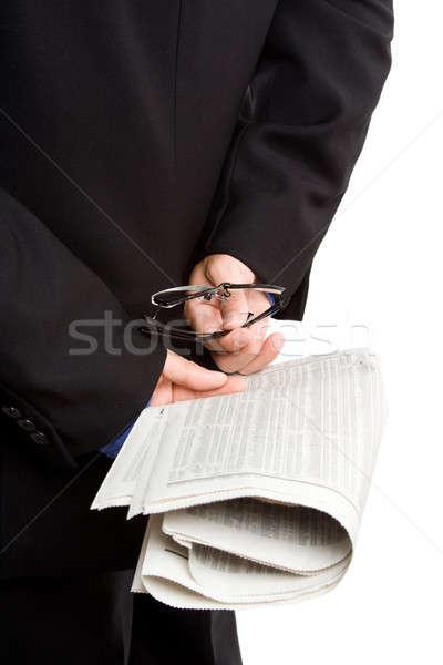 üzlet befektető izolált lövés üzletember hordoz Stock fotó © aremafoto