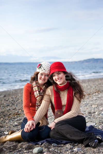 Sisters Stock photo © aremafoto