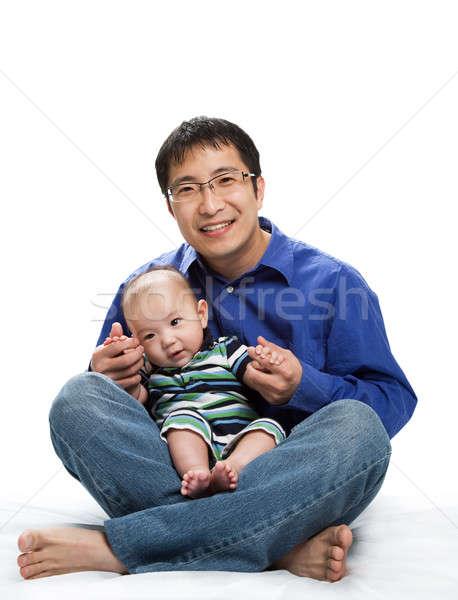 Сток-фото: азиатских · отцом · сына · выстрел · ребенка · детей · ребенка