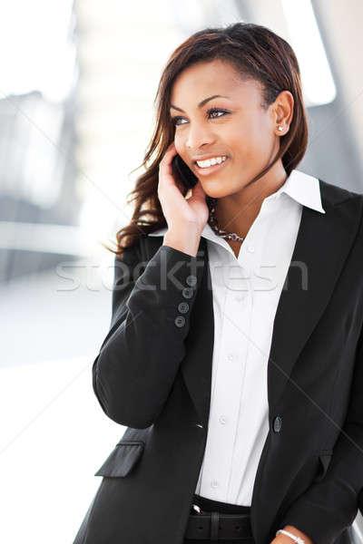 Black businesswoman on the phone Stock photo © aremafoto