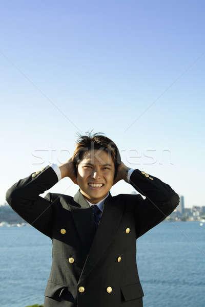 Stressed businessman Stock photo © aremafoto