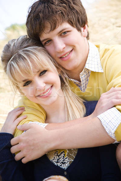 Young caucasian couple in love  Stock photo © aremafoto