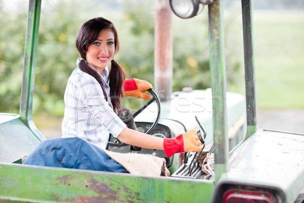 Farm girl Stock photo © aremafoto