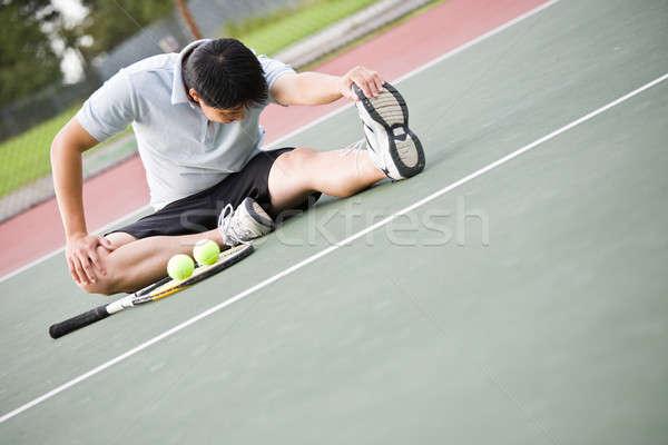 Asian male tennis player Stock photo © aremafoto