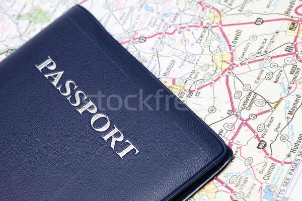 Travel passport Stock photo © aremafoto