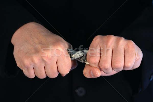 Takarékosság pénz üzletember megtakarítás pénzügy pénzügyi Stock fotó © aremafoto