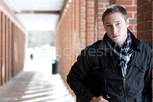 молодые портрет молодым человеком Постоянный Открытый Сток-фото © ArenaCreative