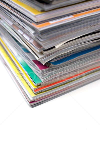 Pile of Magazines Stock photo © ArenaCreative