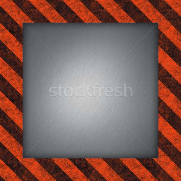 Hazard Stripes Frame Stock photo © ArenaCreative