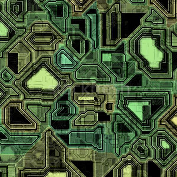 Techno nyáklap csempék internet háttér zöld Stock fotó © ArenaCreative