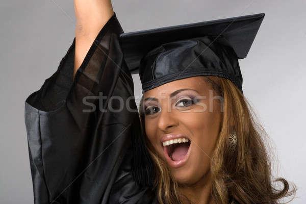 Happy Graduate Cheering Stock photo © ArenaCreative