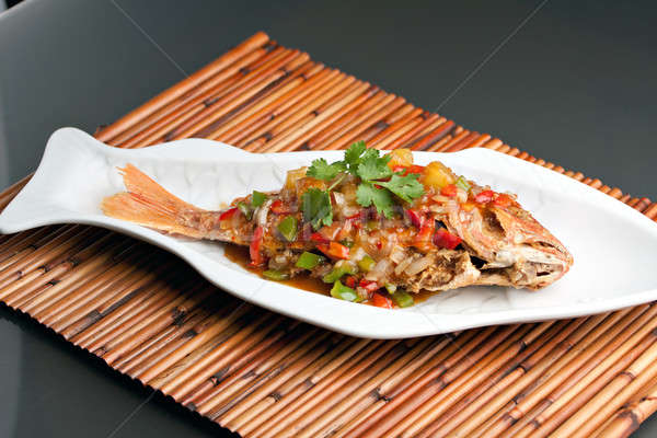 Thai Tamarind Red Snapper Stock photo © arenacreative