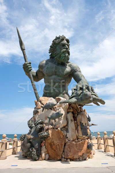 King Neptune Monument In Virginia Beach Stock photo © ArenaCreative