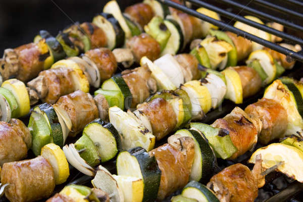 Shish Kebabs on the Grill Stock photo © ArenaCreative