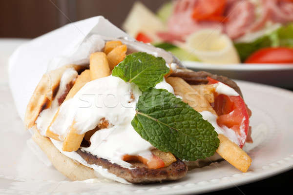 Mediterranean Gyro Pita Wrap Stock photo © ArenaCreative