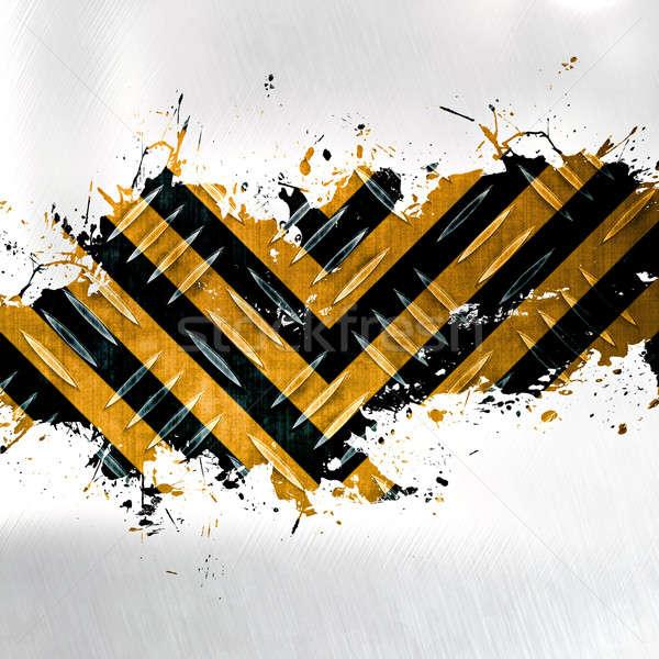 Hazard splatter diament tablicy Zdjęcia stock © ArenaCreative