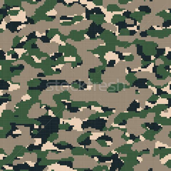 Cyfrowe armii kamuflaż brązowy pustyni kolorowy Zdjęcia stock © arenacreative