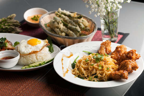 Variety of Thai Foods Stock photo © arenacreative
