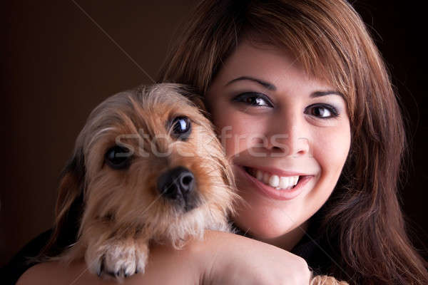 Woman and Her Pet Dog Stock photo © ArenaCreative