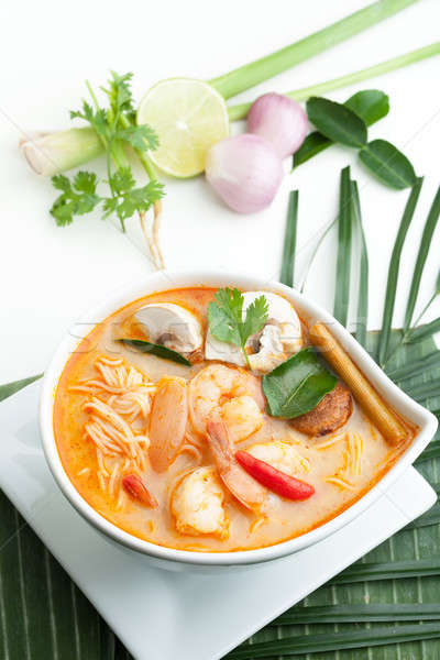 Thai Tom Yum Soup with Shrimp Stock photo © arenacreative