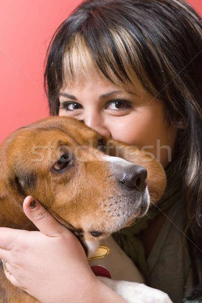 Girl Kisses Her Dog Stock photo © ArenaCreative