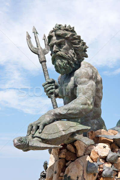 Large King Neptune Statue in VA Beach Stock photo © ArenaCreative