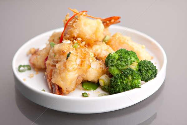 Thai Fried Honey Shrimp Plate Stock photo © ArenaCreative