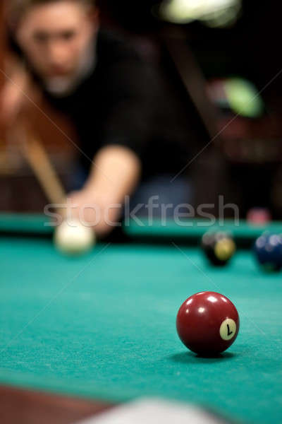 Man Shooting Pool Stock photo © ArenaCreative