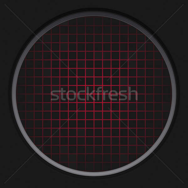 Rojo radar red circular negro textura Foto stock © ArenaCreative
