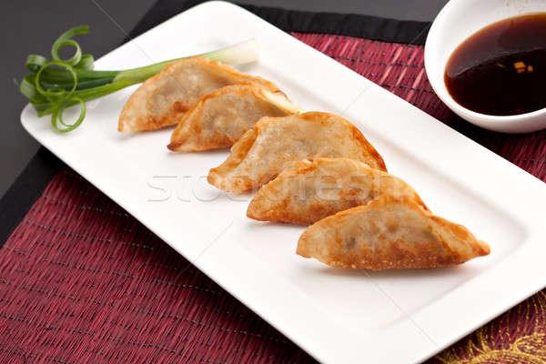 Thai Pan Fried Gyoza Dumplings Stock photo © ArenaCreative
