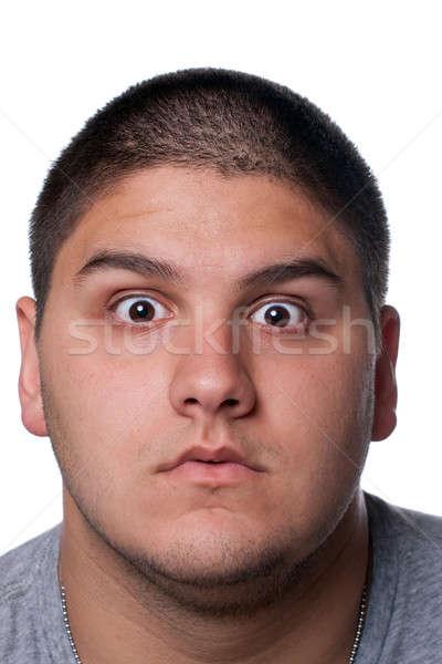 Foto stock: Homem · nerd · óculos · isolado