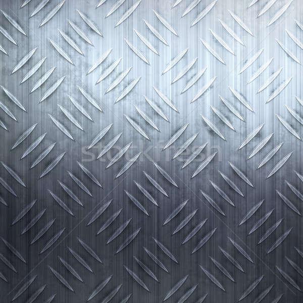 ダイヤモンド プレート 金属の質感 クール 青 ストックフォト © ArenaCreative